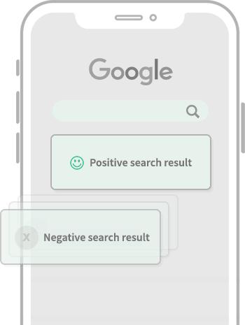 Negatieve berichten in Google